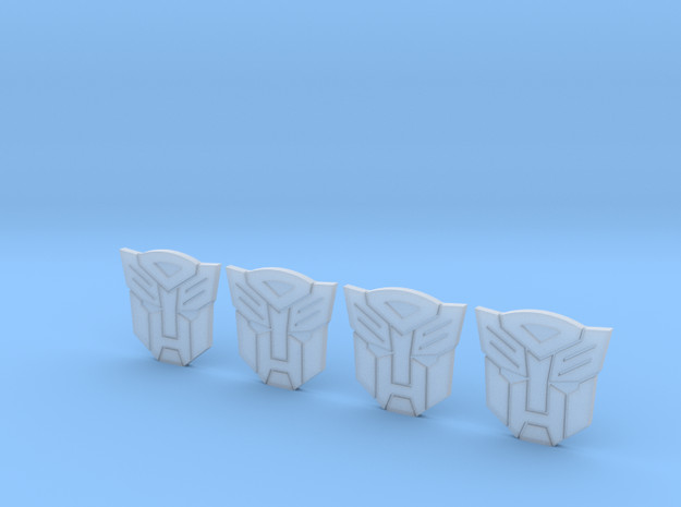 Autobot Logo 552x539 in Smooth Fine Detail Plastic