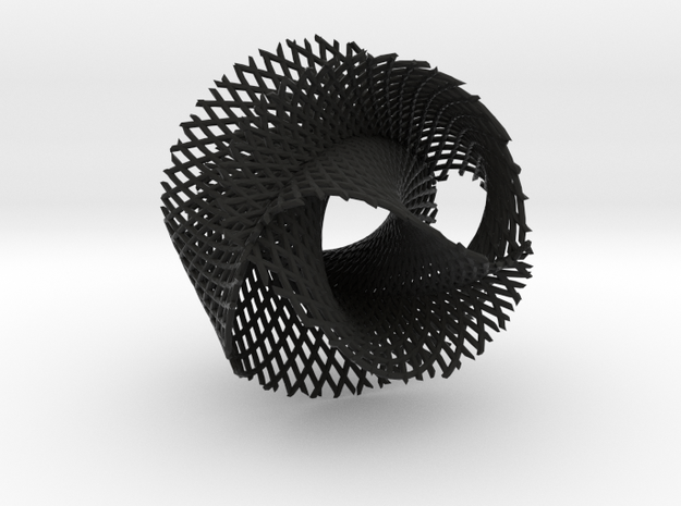 4x3 ribbon on hypersphere 3d printed