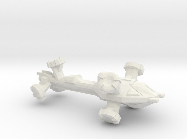 Digitorium Warp Bubble Frigate in White Natural Versatile Plastic
