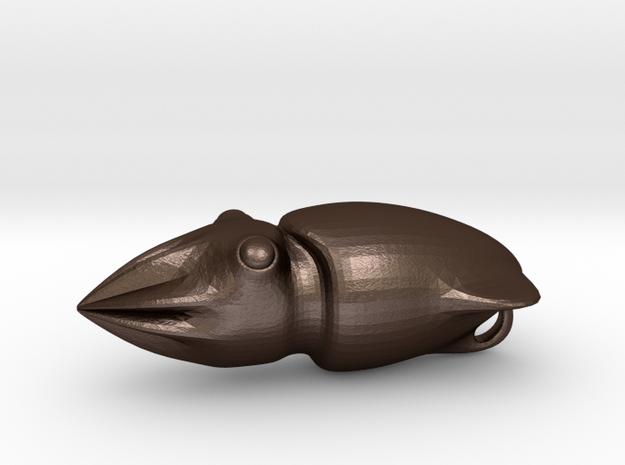 Squid Pendant 3d printed