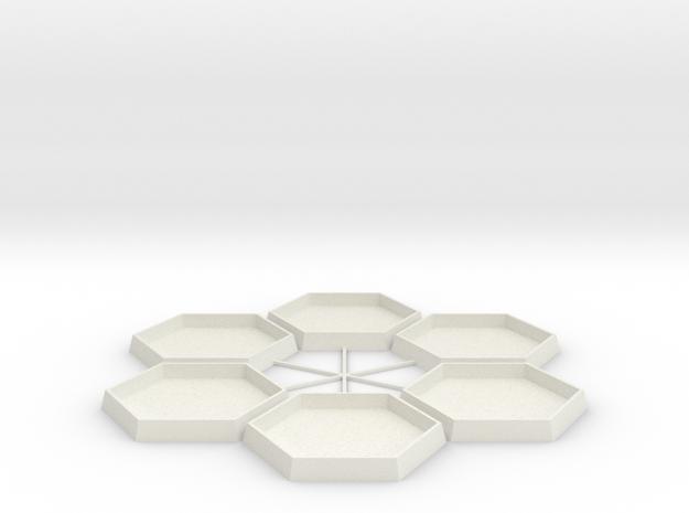 Mapscale Socket Hex in White Natural Versatile Plastic