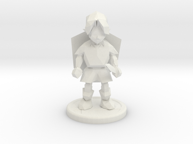 young adventurer trophy in White Strong & Flexible