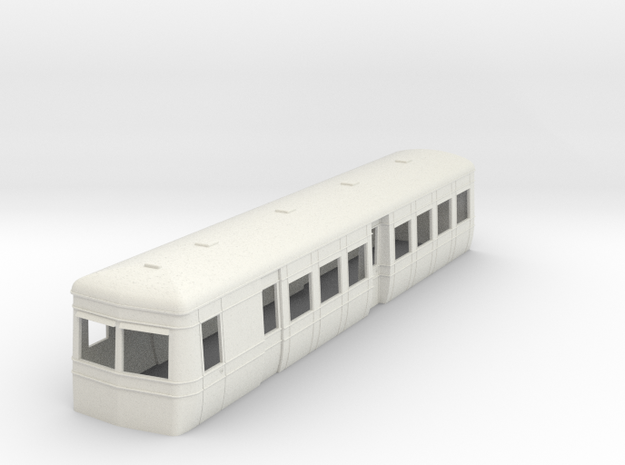 OO9 AW railcar single ended trailer with guards 3d printed