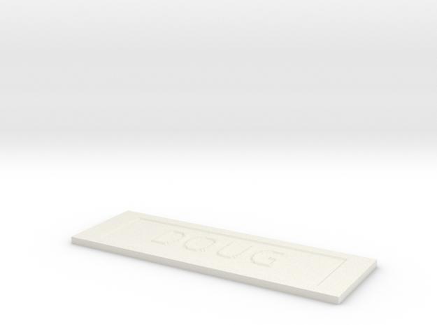by kelecrea, engraved: DOUG 3d printed