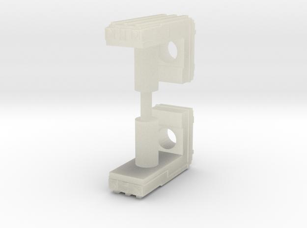 Forward facing 5mm grip in Transparent Acrylic