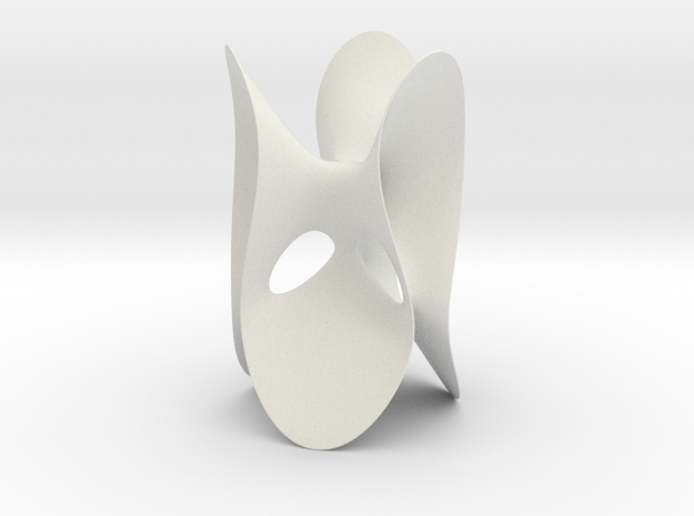 Clebsch Diagonal Surface, no lines, 199mm (7.8in) in White Natural Versatile Plastic