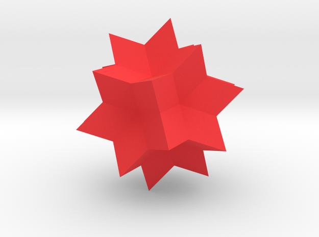 Wolfram|Alpha Spikey in Red Strong & Flexible Polished: Small