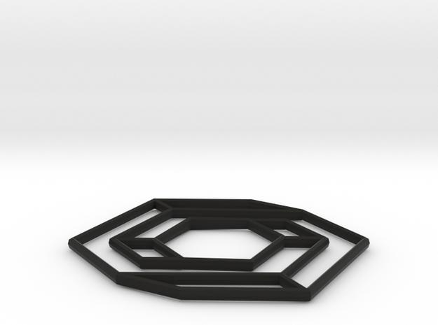 Impossible hexbar, v2 3d printed