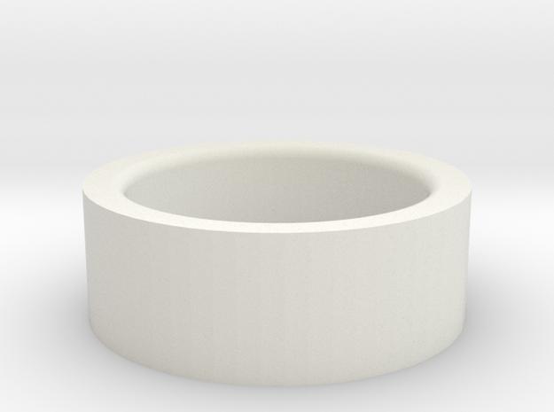 Autobot Ring in White Natural Versatile Plastic