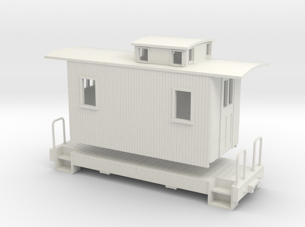ON30 18 ft Small caboose 3d printed