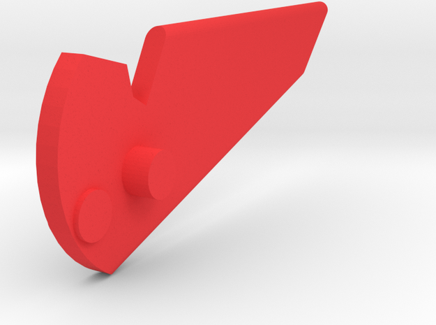 the beast 1/32 head Fin piece red alpha 3d printed