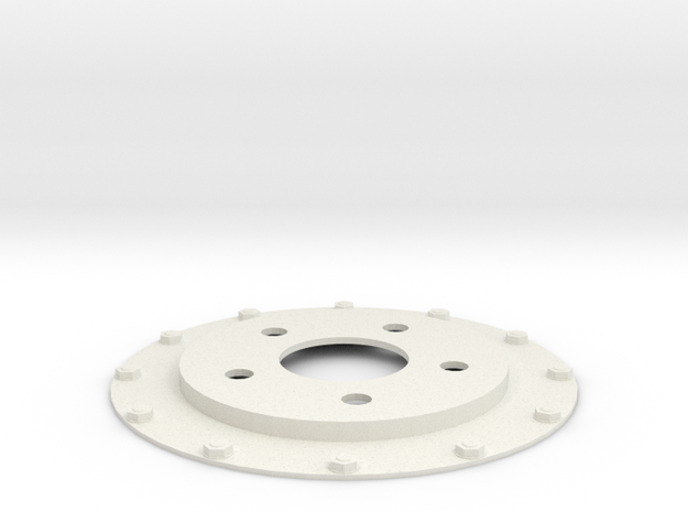 Brake Disc (Part 3) in White Natural Versatile Plastic