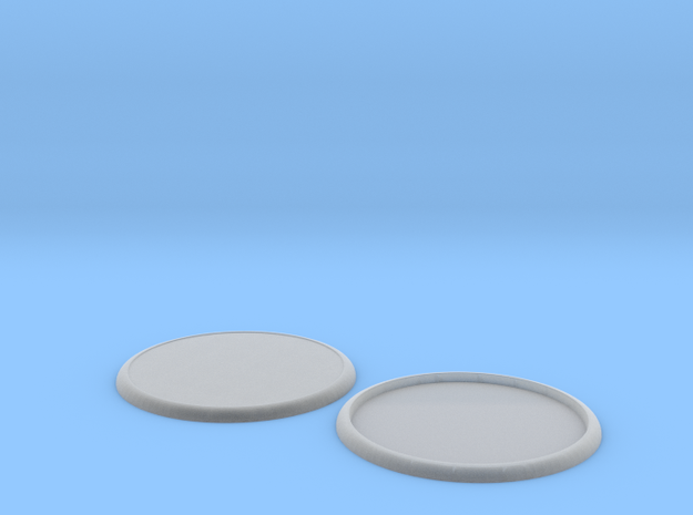 100mm round lipped base pair 3d printed