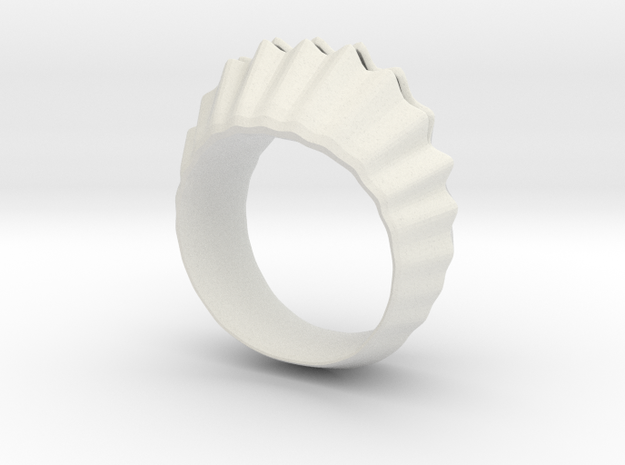 sea shell ring in White Natural Versatile Plastic