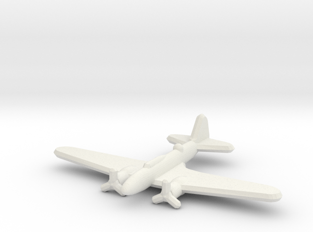 Ilyushin Il-4 1:900 in White Natural Versatile Plastic
