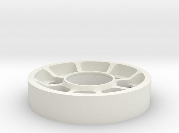 Smooth idler in White Natural Versatile Plastic