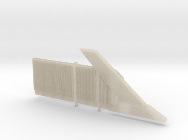 Beton Schallschutzwand mit Anfangselement rechts 3d printed