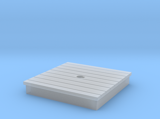 HO-Scale Water Pump Platform in Smooth Fine Detail Plastic