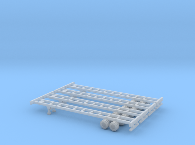 48 foot Container Chassis Set - Zscale 3d printed