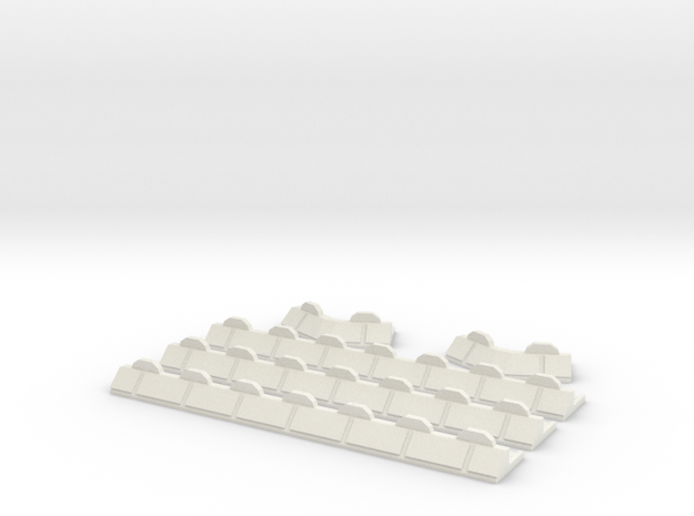 6mm Barricade Walls in White Natural Versatile Plastic