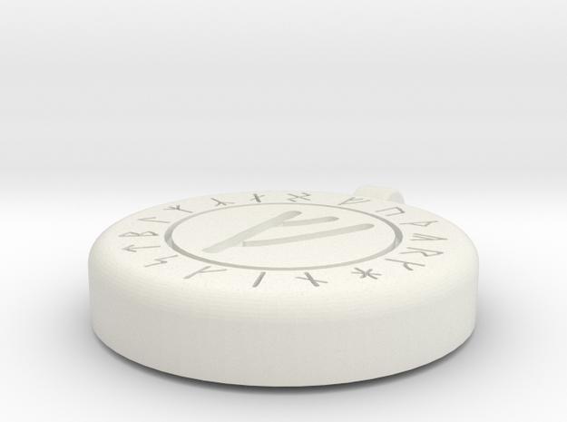 Rune of Wealth in White Natural Versatile Plastic