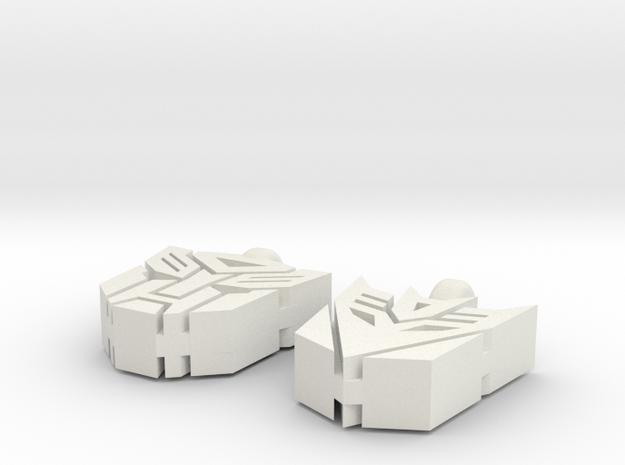 Transformer Earrings in White Natural Versatile Plastic