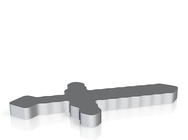 sword minecraft 3d printed