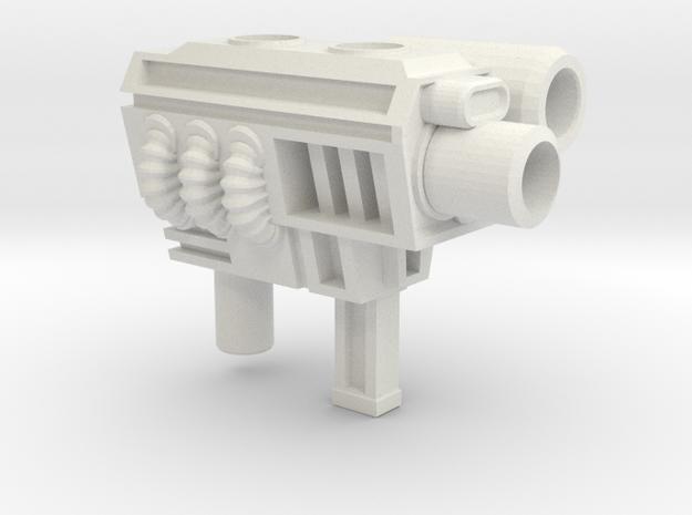 Generation 2 Sideswipe 5mm Gun in White Natural Versatile Plastic