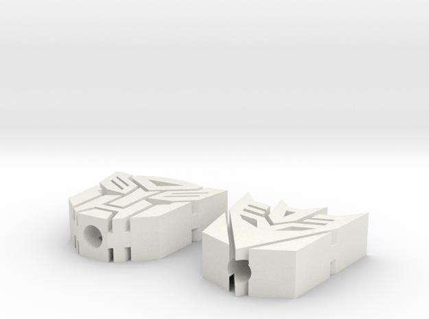 Transformers Toothpick Toppers in White Natural Versatile Plastic