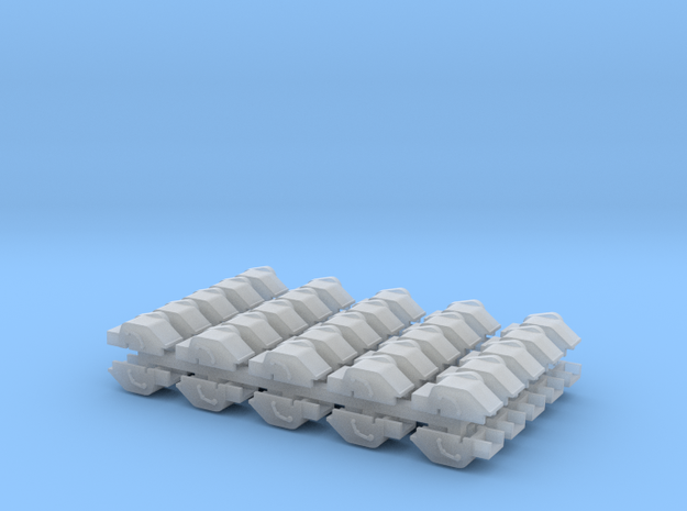Winch Cover - Set of 50 - N scale in Smooth Fine Detail Plastic