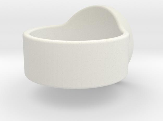 Large Icon Decepticon Ring in White Natural Versatile Plastic