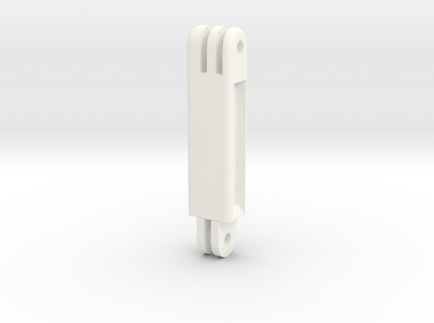 "GoPro Long Adapter (2"") in White Processed Versatile Plastic"