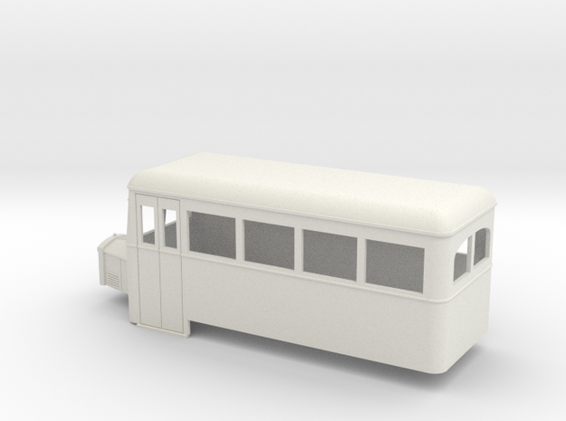 O9/On18 rail bus single end 3d printed