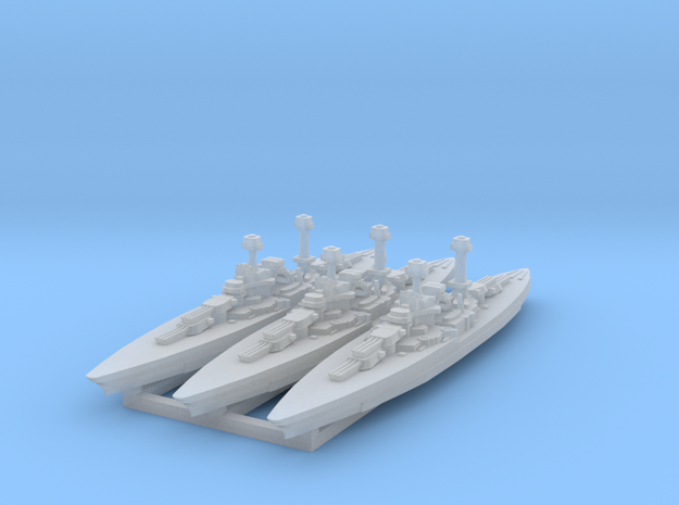 South Dakota Class (BB-49) 1:4800 x3 3d printed