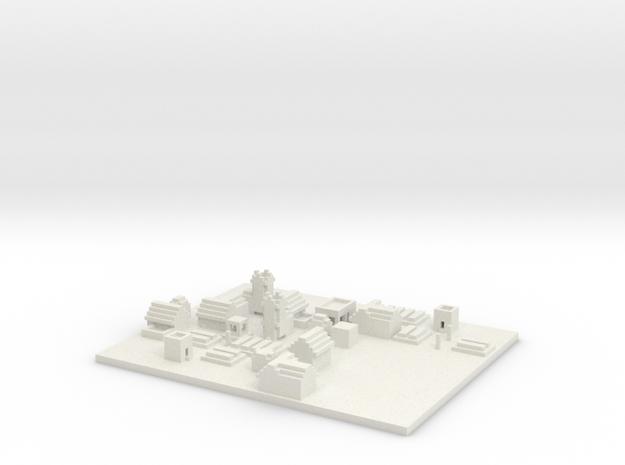 NPC village 3d printed