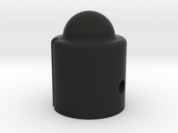 Dome Head Control Knob for electric guitars and ba in Black Natural Versatile Plastic