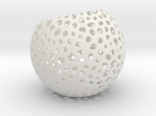 Non bowl sphere in White Natural Versatile Plastic
