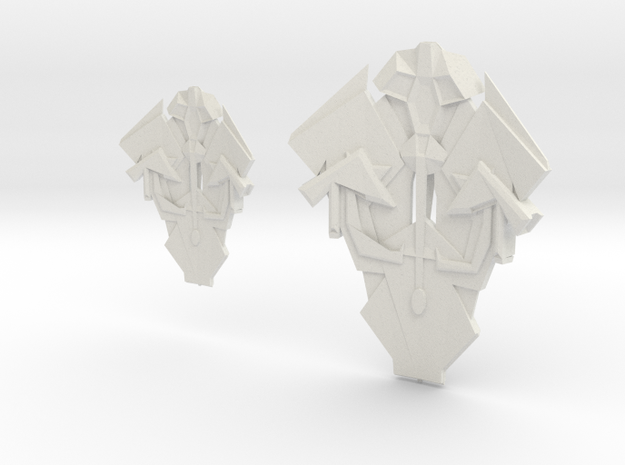Cardassian TEROK CLASS INTERCEPTION Cruiser & Dest in White Natural Versatile Plastic