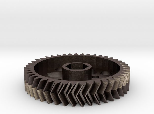 Printrbot E Lg gear in Polished Bronzed Silver Steel