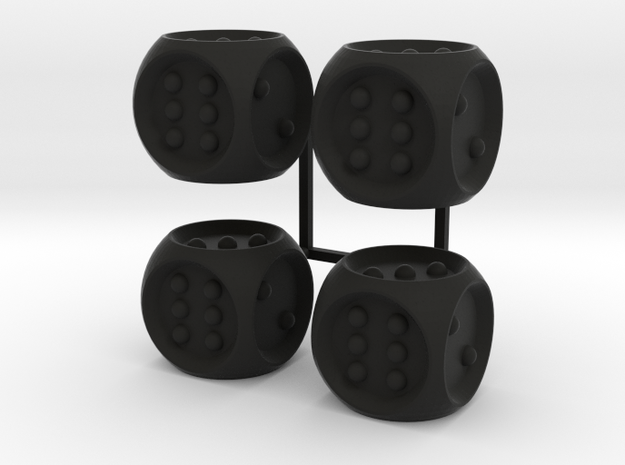 Braille Dice x4 3d printed