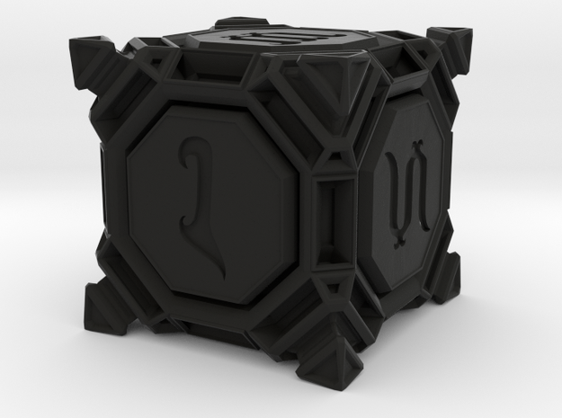 Six sided Dice - D6 'Stud' Style in Black Strong & Flexible
