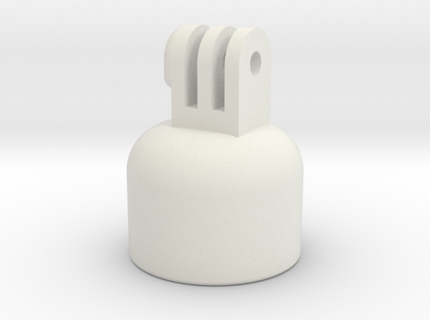 "GoPro Pole Mount (Fits 1"" Sch 40 PVC) in White Natural Versatile Plastic"