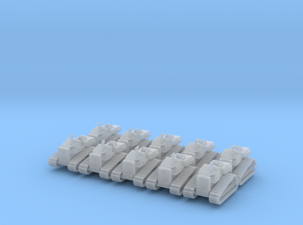 Caterpillar D4H - set of 10 - N scale in Smooth Fine Detail Plastic