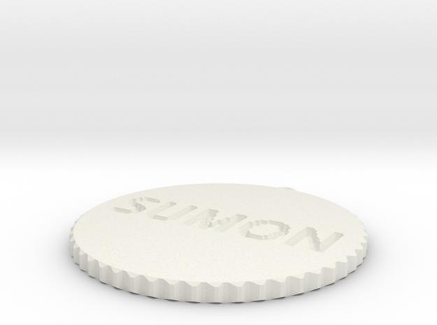 by kelecrea, engraved: SUMON 3d printed