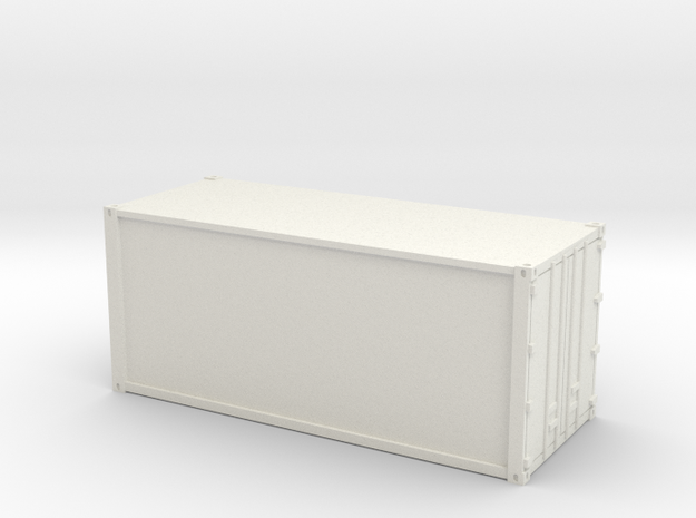 20ft Container Smooth, (NZ120 / TT, 1:120) in White Natural Versatile Plastic