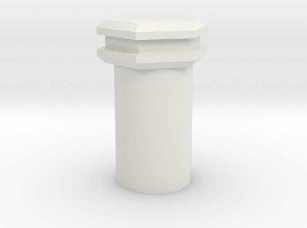 Unique 2.1 mm Kill Key in White Natural Versatile Plastic