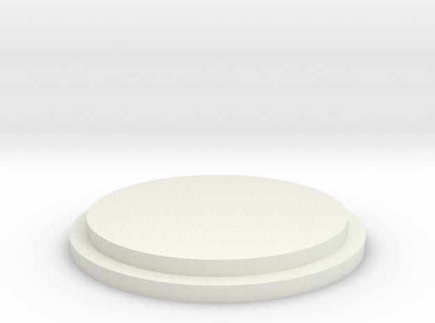 Pommel Insert - Blank in White Natural Versatile Plastic