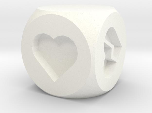 Hearts Fudge Dice SOLID (x1) Fate dF 3d printed