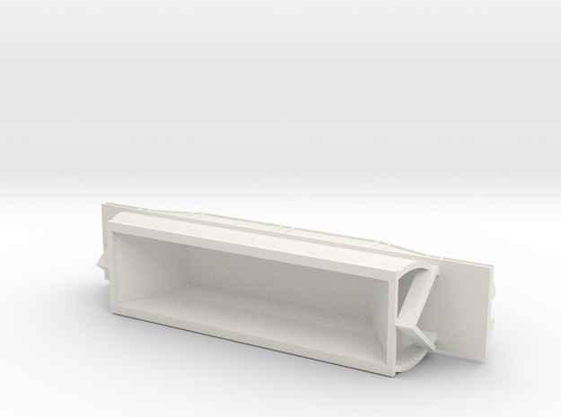 CW Coal Wagon, New Zealand, (NZ120 / TT, 1:120) in White Natural Versatile Plastic