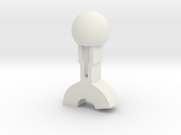 Train Cab Switch Casing (sphere, one side) 3d printed